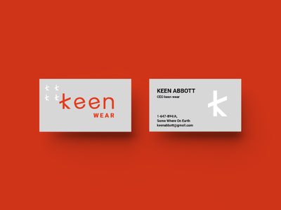 keen wear business card branding logo type business card logo