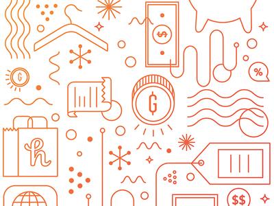 Honey Notebook Monoline icon gradient monoline