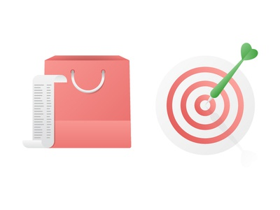 Honey Marketing Illustrations order receipt target shopping bag fun color honey icons icon spot illustration illustrations