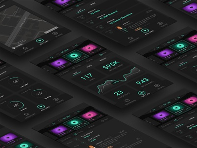 Hop Mobile App app ios charity chart graph dark theme mobile