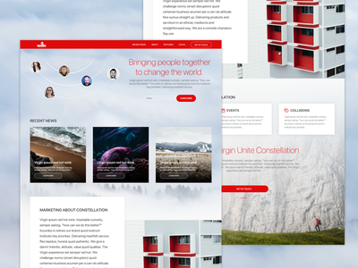 Virgin Unite Landing Page website webdesign ux ui social network social responsive red network landing page charity