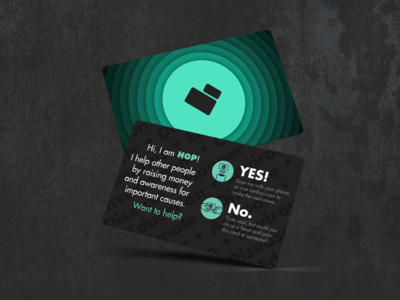 Hop Card heart teal branding icon pay it forward charity nfc card