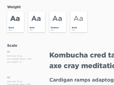 Favor Type Styleguide ui type font style guide design system