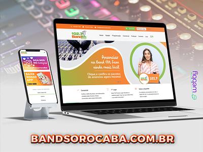 Criação de Site - Band FM Sorocaba site para rádio agencia webby site sorocaba reformulação de site criação de site