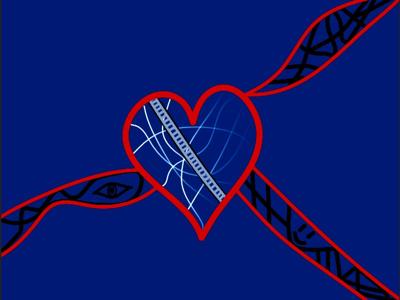 Teaser #1_2 felfan len lf heart digital sketch expressionism abstract