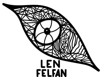 Logo art digital lenfelfan felfan len logo 03:22 eye symbolism expressionism abstract