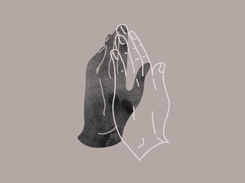 Together in prayer hands illustration church event easter prayer