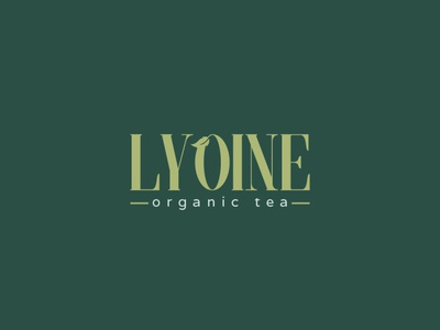 Lyoine Logo with leaf icon for Tea Company company icons minimal logo design minimalist tea