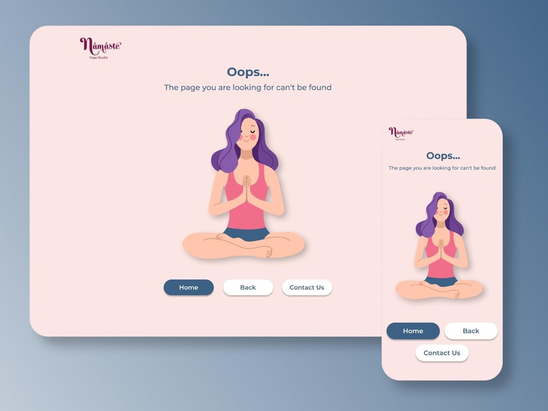 404 Page Design for Web and Mobile mobile 404 page 404 dailyuichallenge dailyui illustration minimal website web ux ui design app