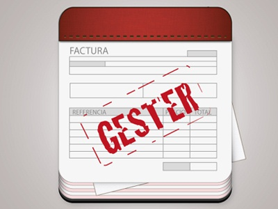 Gester illustration red icon logo visual identity invoices