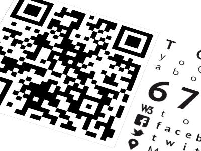 Tarjeta Personal - Cara B black blanco card tarjeta tipografía qr facebook twitter minimalism negro white