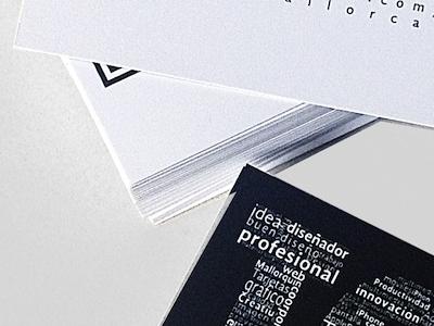 Tarjetas Personales - Impresión card paper tarjeta lapel blanco negro white black