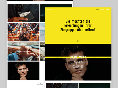 Alexbecher | Website ui minimal uiux clean ui webdesign uidesign photographer portfolio design webflow