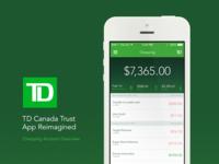 TD iOS App Redesign