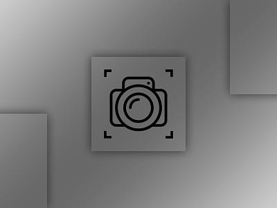 Camera logo minimal design typography flat icon vector app logo minimalism design minimal