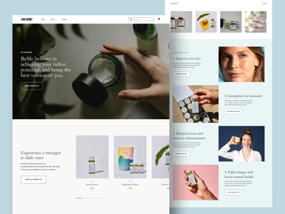 Women's Multivitamins Website Design - BEME app logo branding ui web design website webdesign figma uxui design