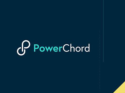 PowerChord Logo branding agency branding and identity teal logo design brand design branding brand identity tech branding saas design tech logo clean logo tech saas