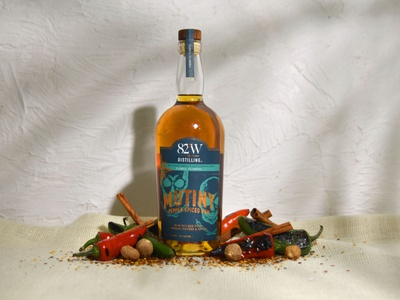 82º West Distilling  |  Product Photography spiced rum peppers alcohol packaging alcohol branding liquor rum product photo editing product photo photography product photography branding and identity brand identity branding