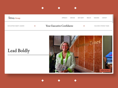 The MPetty Group Website Design horizontal scroll ux uidesign uxui ui uxdesign homepage brand identity consulting website consulting firm consulting executive web design web designer branding front-end frontend webflow webdesign website