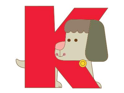 K dog Alphabet