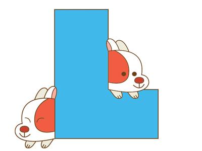 L dog alphabet