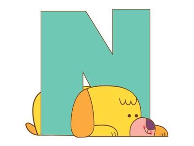 N dog alphabet