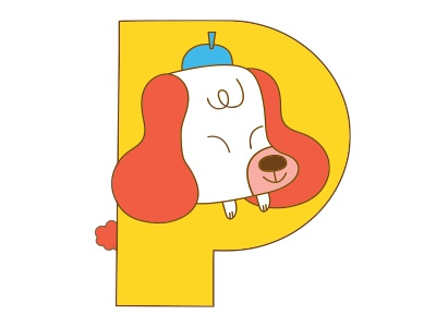 P dog Alphabet