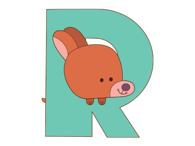 R dog Alphabet