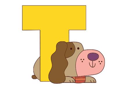 T dog alphabet