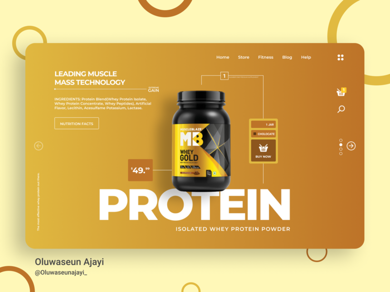 WHEY PROTEIN CONCEPT branding web design minimal design workout muscle minimal design protein whey landingpage figmadesign figma graphics uidesign web ux
