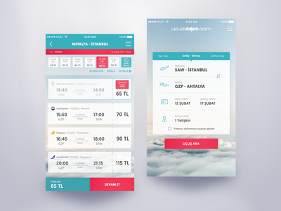 Flight Booking App UI