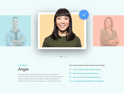 Persona Image Carousel ux ui css animations css grid gallery personas carousel