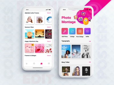 Photo Montage (Photo Editing App) frames selfie photo editor photo editing photo montage story teller collages flyers posters photo app photo edit