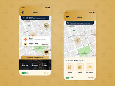 Fuel Delivery App Solution - Dashboard & Maps map dashboard app ui app fuel delivery app delivery app fuel