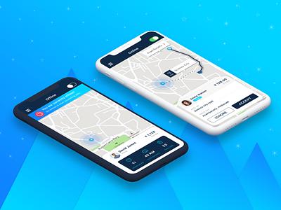 On Demand Taxi App Driver for you idea app design driverapp taxidriver driver appui app ui design cab app ui