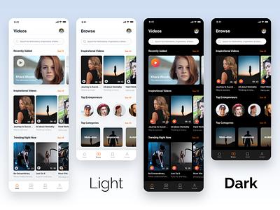 Videos & Documentaries documentaries dark theme light theme play videos tv shows motivation app ui app design design appui ui app video