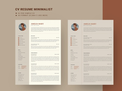 Minilist CV Resume Template minimalist docx clean doc cv microsoft word professional modern template manager job infographic creative resume