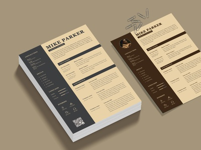 Vintage CV Resume Template minimalist docx clean doc cv microsoft word professional modern template manager job infographic creative resume