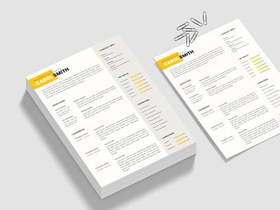 CV Resume Template minimalist cv microsoft word professional modern template job creative resume