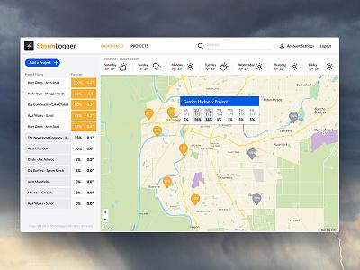 Stormlogger Dashboard sacramento light dashboard weather maps