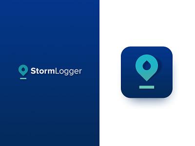 Stormlogger Unselected Logo storm logo rain