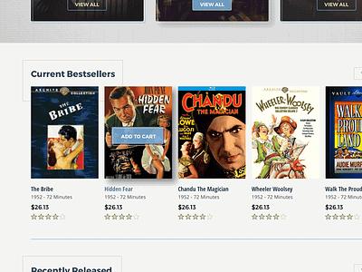 Classicflix Progress Wip vintage movies store shop ui ecommerce