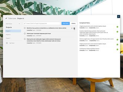 ToDo Tool Concept ui lists material design todo modal