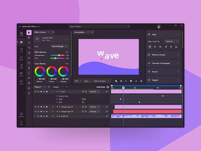 Re-Design Adobe After Effects figma motion simple after effect windows 11 minimal design ui
