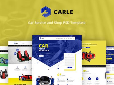 Carle - Car Service and Shop PSD Template psd template car shop web design car service mechanic car