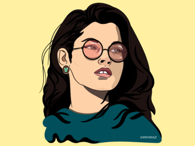 Silence is luxurious portrait dribbble drawing fashion illustration glasses girl minimalism minimal colorful art vector illustration digital art artwork adobe illustrator