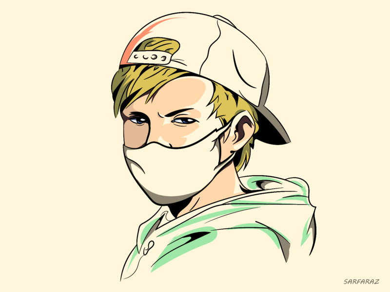 Quarantine life lifestyle illustration sketch drawing anime boy quarantine dribbble illustration artwork digital art adobe illustrator