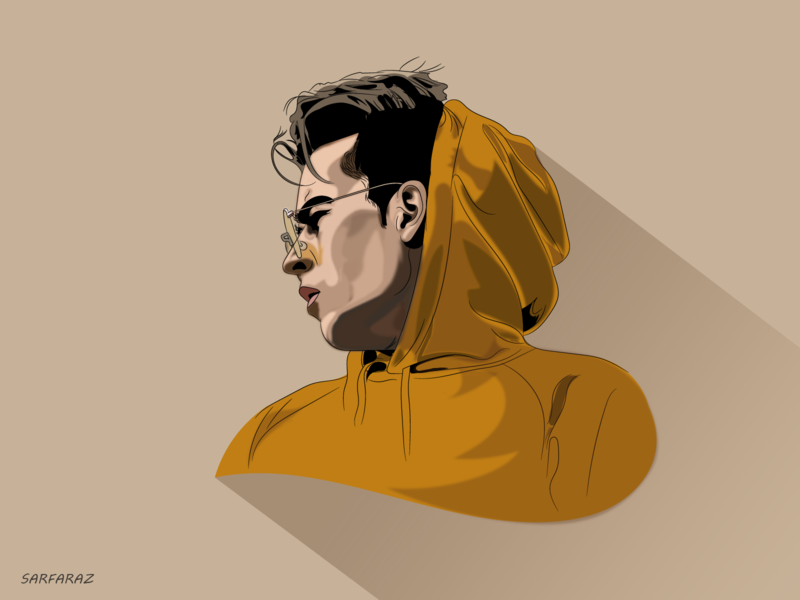 Focus hairstyle face focused hoodie fashion glasses side boy adobe minimal colorful dribbble drawing minimalism vector digital art illustration artwork adobe illustrator