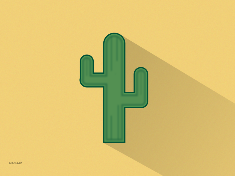 Cactus desert cactus cactus illustration simple pastel color minimal illustration digital art vector minimalism art artwork adobe illustrator