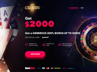 Crown Casino one main page